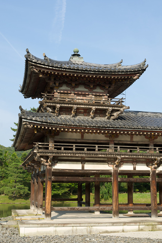 Byodo-in Temple, Pavilion Roof  Japanese World Cultural Heritage near Kyoto