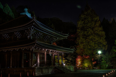 Temple Building in dark Night  Chion-in Temple in Kyoto