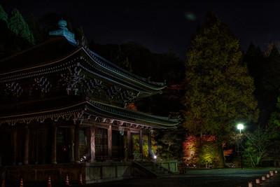 Temple Building in dark Night  Chion-in Temple in Kyoto