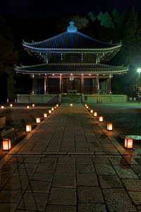 Building at Chion-in Temple in the Dark  Light up Sightseeing in Kyoto