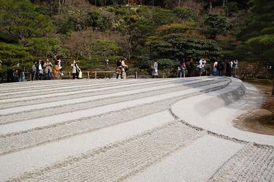 Ginshadan --- The Sea of Silver Sand at Ginkakuji
