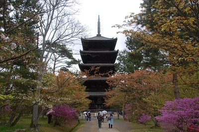 The five storied pagoda at Ninna-ji Temple is 36 meters high and was built in 1644