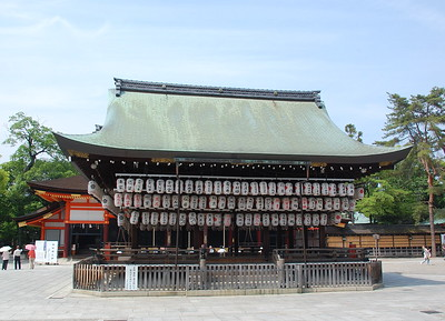 The stage at Yasaka Shrine