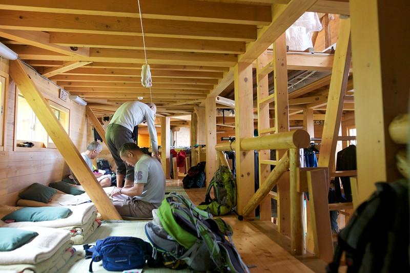 Mountain hut interior