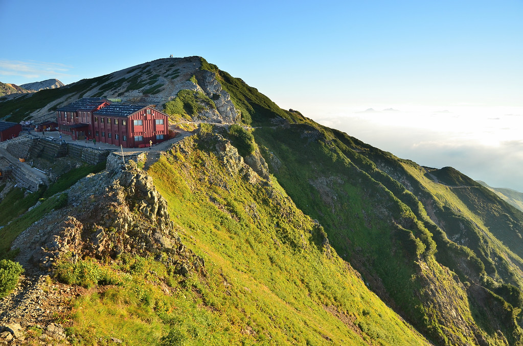 Hut on Mt Karamatsu in the North Alps. Editorial credit: ryuurikyou / Shutterstock.com