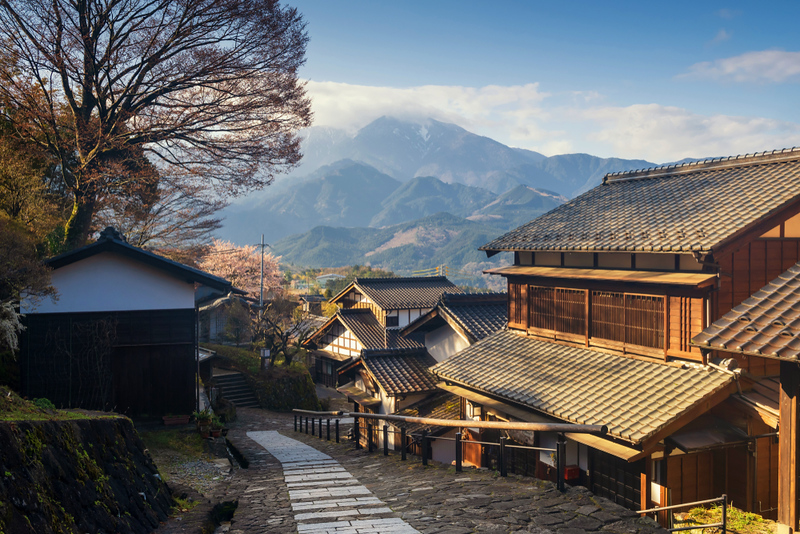 Magome Village on the Nakasendo. Editorial credit: Blanscape / Shutterstock.com