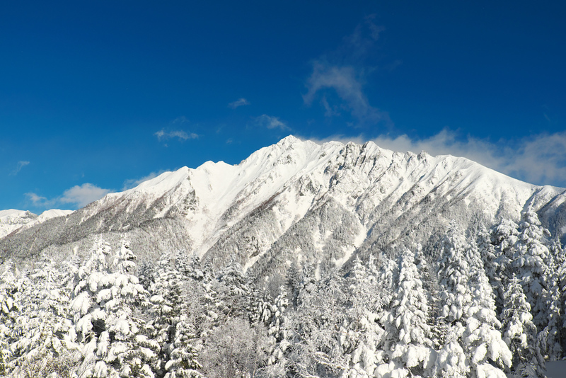 Japan Alps in winter. Editorial credit: daisai / Shutterstock.com