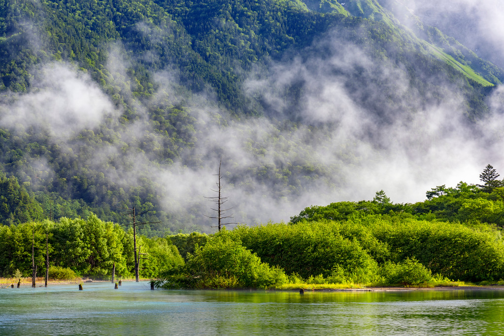 Clouds lifting in Kamikochi. Editorial credit: onemu / Shutterstock.com