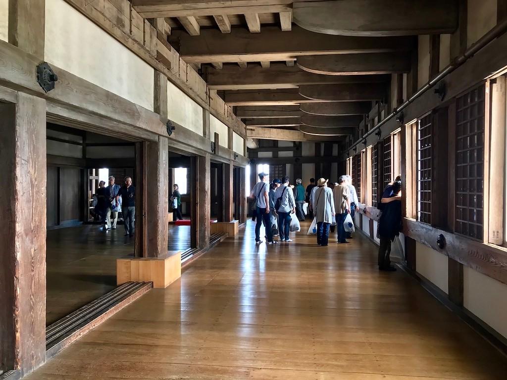 Inside Himeji Castle.
