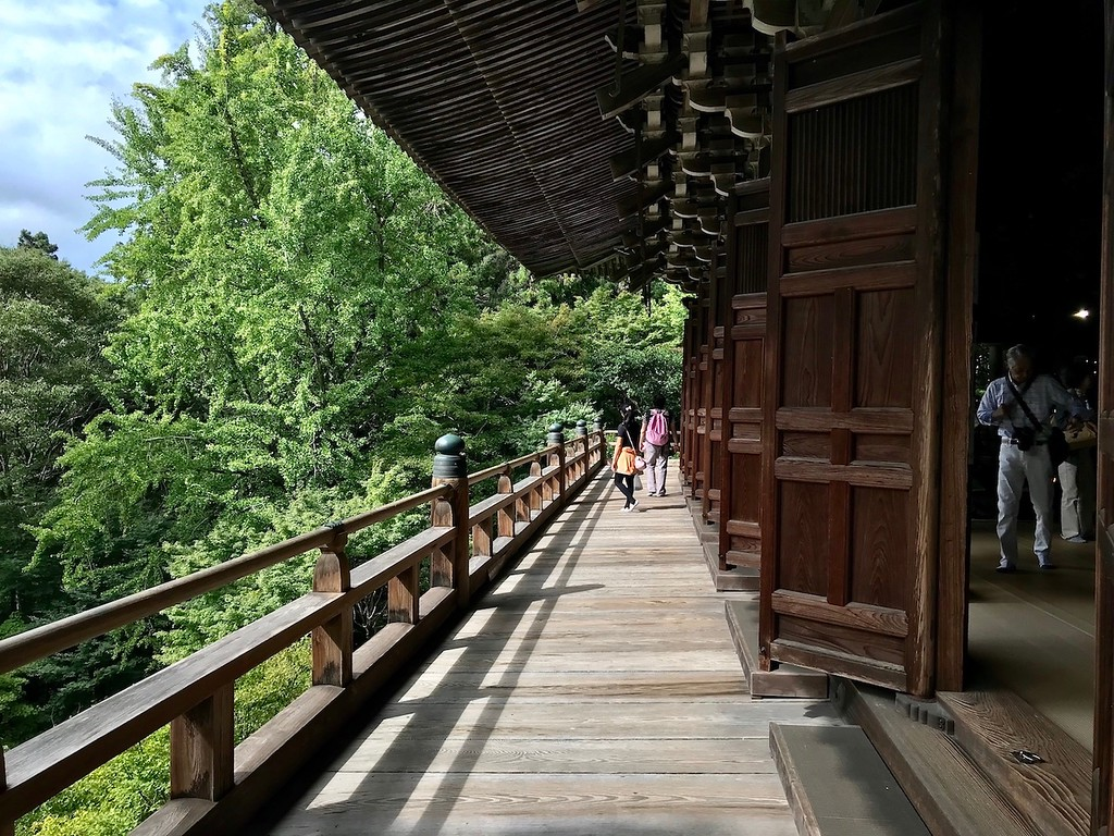 The verandah at the Maniden on Mt. Shosha.