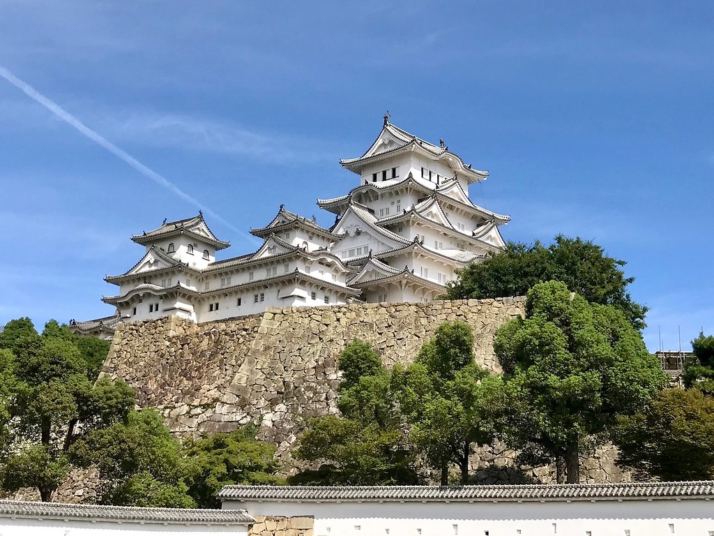 Himeji Castle on a clear day.