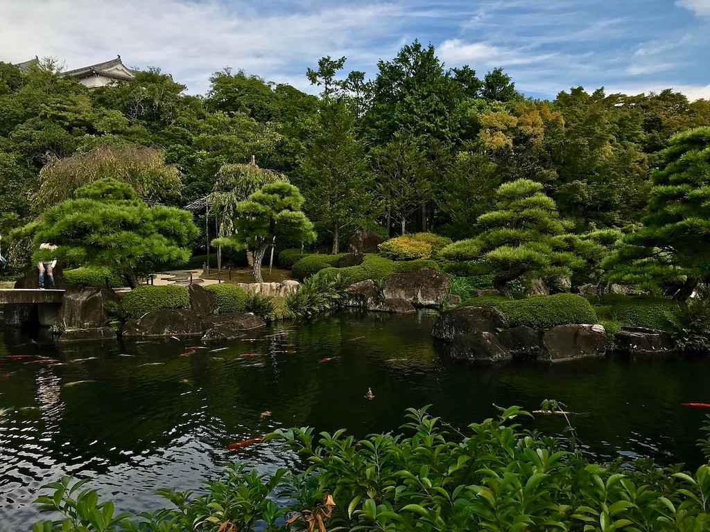 This is one of the first gardens you'll see in Koko-en.