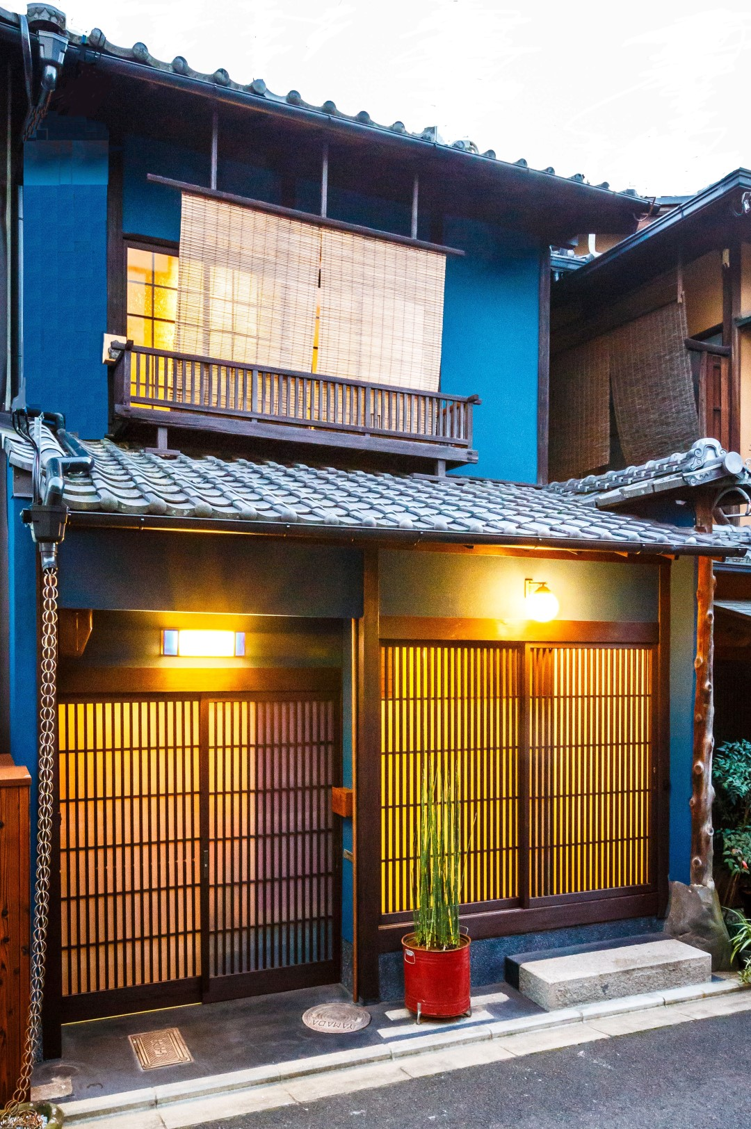 Exterior of Indigo House in Gion