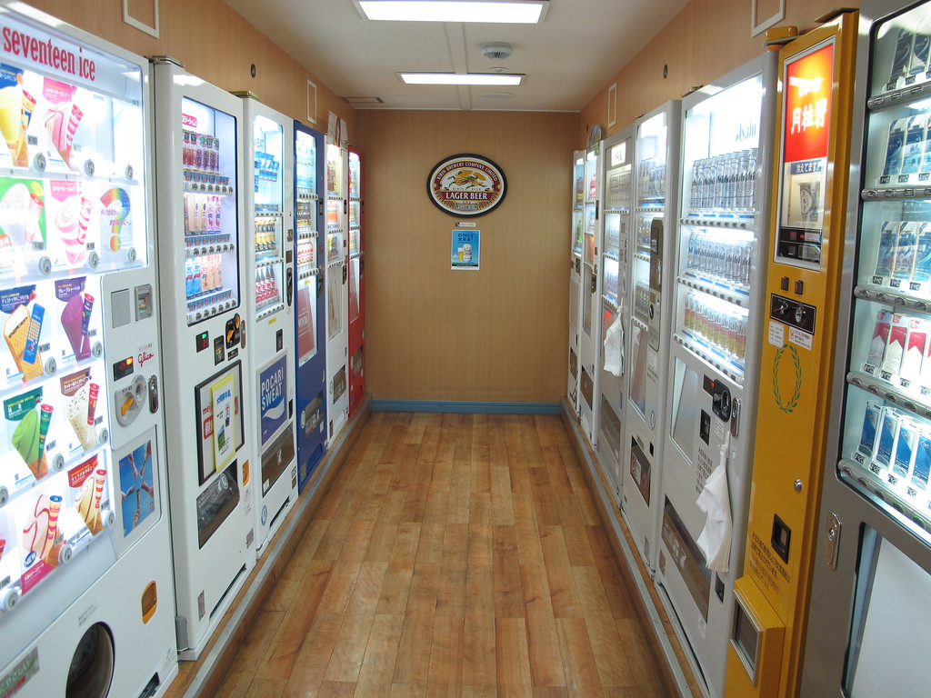 Vending machines on the Kiso