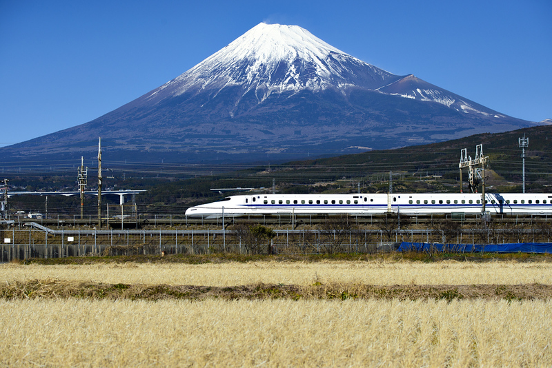 Shinkansen and Mt Fuji. Editorial credit: IamDoctorEgg / Shutterstock.com