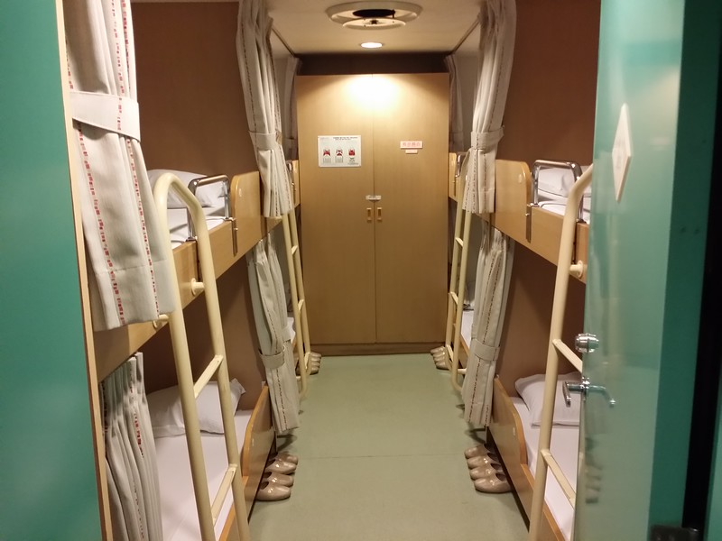 Bunk Room on Japanese Ferry