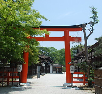 Entrance to Shimogamo Shrine