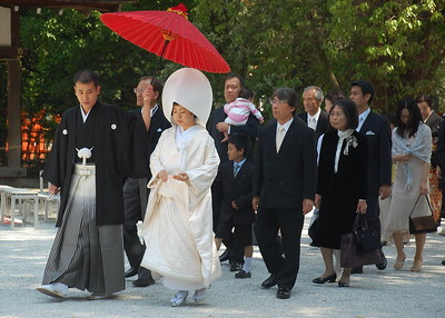 Wedding procession at Kamigamo Shrine