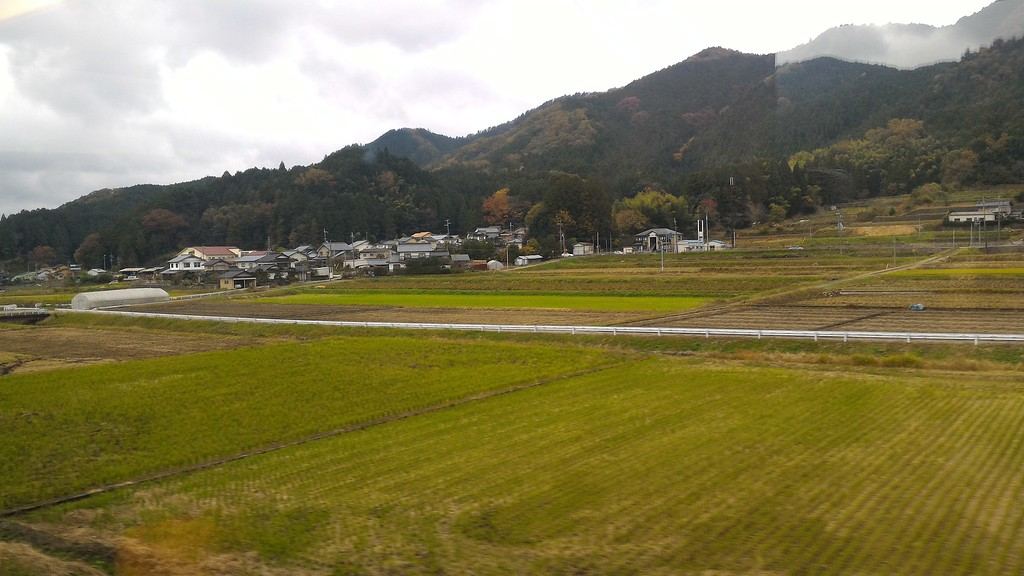 Rural scenery in northern Kyoto.