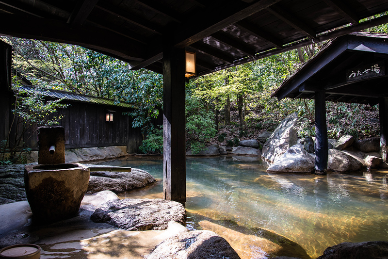 Outdoor onsen or rotemburo