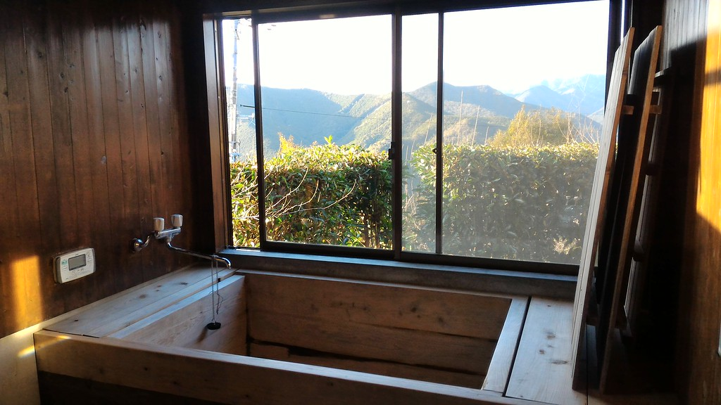 View from bathtub at Hoshizora-no-Yado