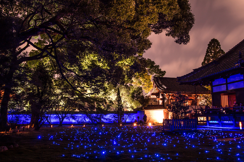 Shoren-in during evening illumination. Editorial credit: Vichy Deal / Shutterstock.com