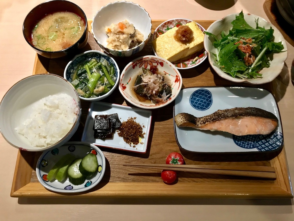 Japanese-style breakfast at Shunsai Imari.