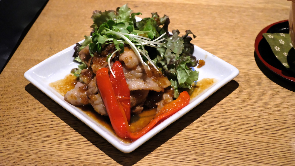 Shogayaki - pork in ginger sauce.