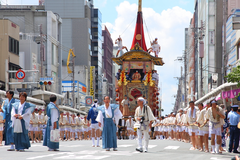 Parade float during the Gion Matsuri Festival