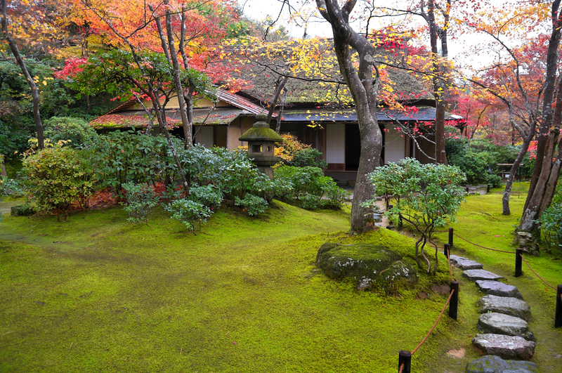 Okochi-Sanso garden in autumn