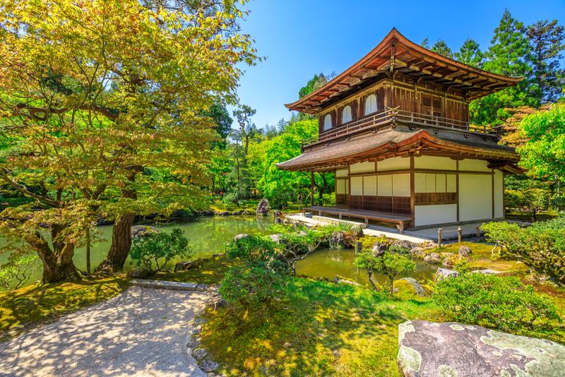 Ginkaku-ji Temple in spring