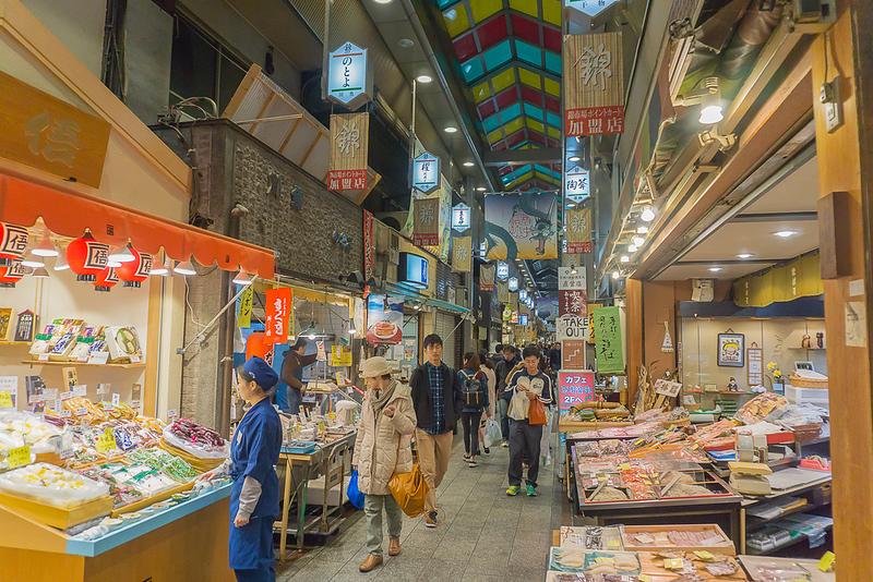 Nishiki Market in early evening