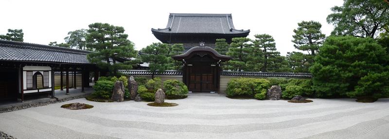 Karesansui garden at Kennin-ji Temple