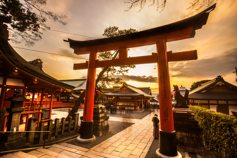 Fushimi-Inari Taisha Shrine at dusk
