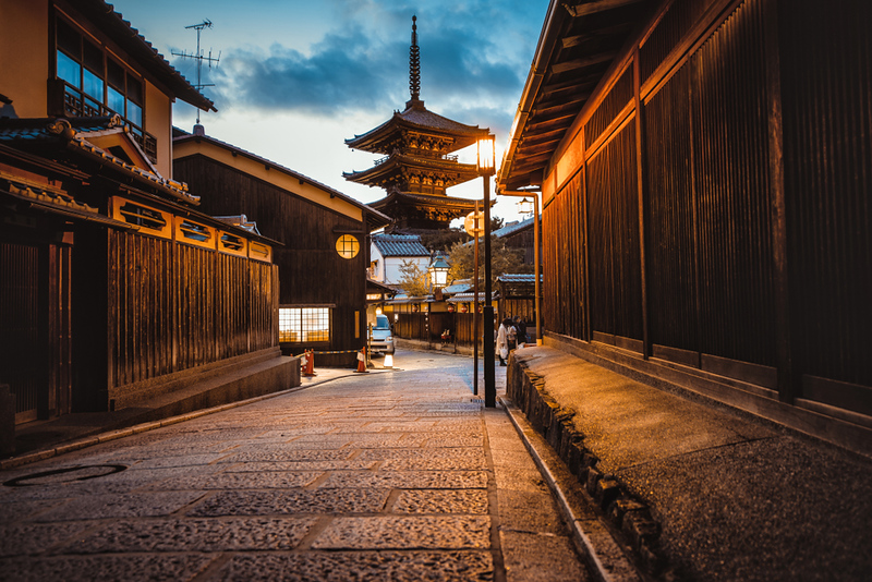 Yasaka-no-To Pagoda in the early evening