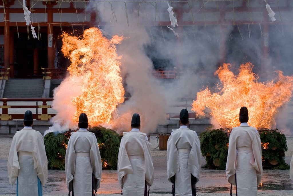 Setsubun ritual at Heian-jingu Shrine  : copyright Jeffrey Friedl