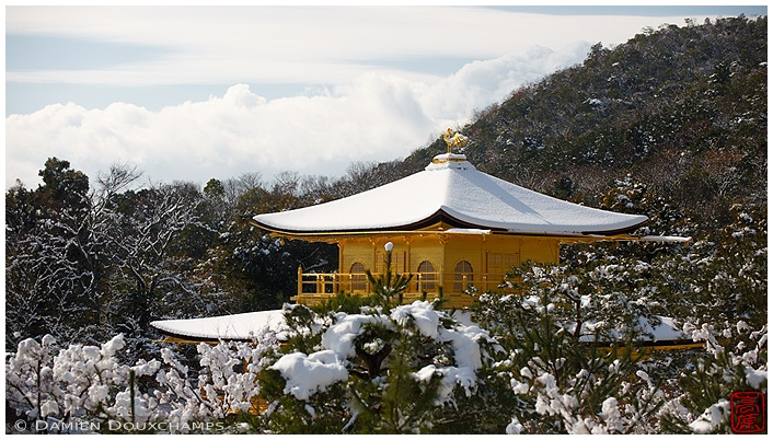 The main hall of Kinkaku-ji Temple in winter : copyright Damien Douxchamps