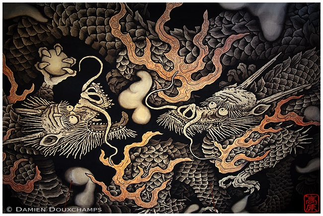Dragon painting at Kennin-ji Temple : copyright Damien Douxchamps