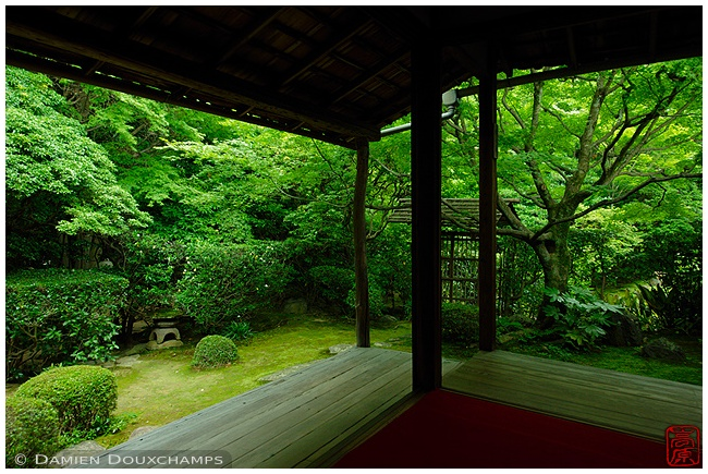 Garden at Keishun-in Subtemple at Myoshin-ji Temple : copyright Damien Douxchamps