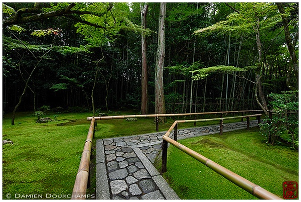 Walkway at Koto-in Subtemple at Daitoku-ji Temple: copyright Damien Douxchamps