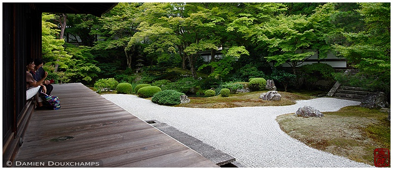 Garden at Sennyu-ji Temple: copyright Damien Douxchamps