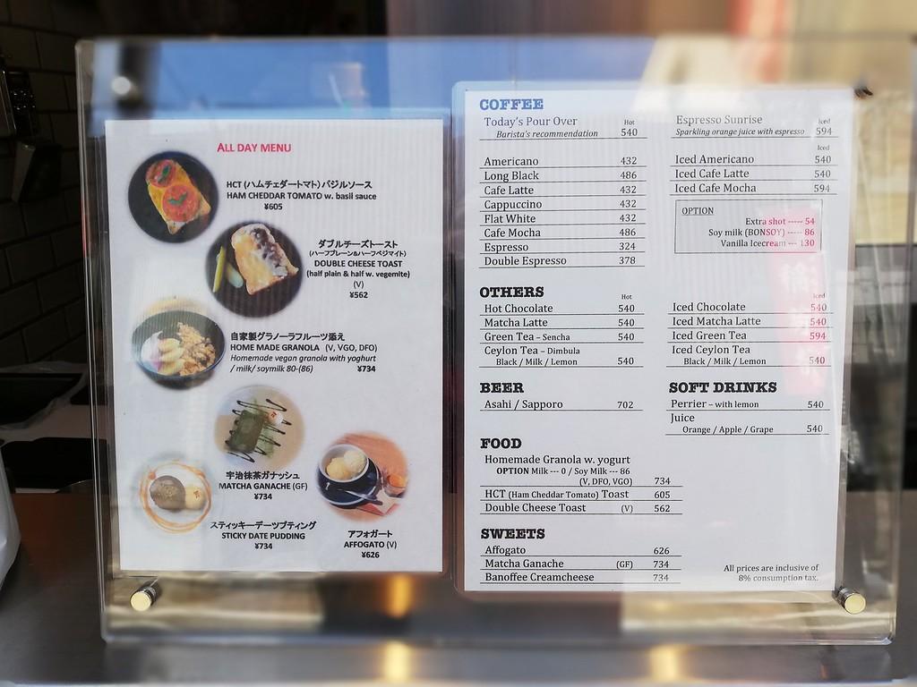 Vermillion menu