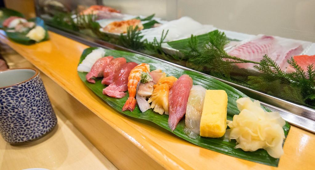 Nigiri sushi in Kyoto. Editorial credit: makesushi1 / Shutterstock.com
