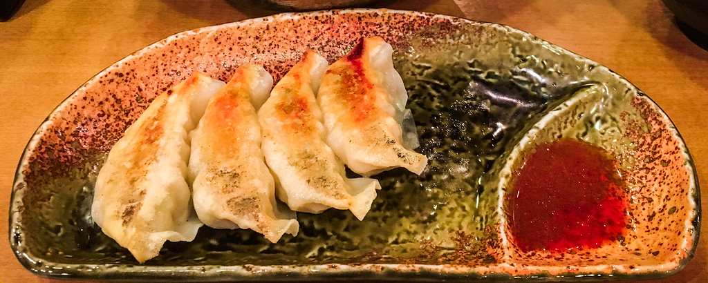 Gyoza on a plate in Kyoto. Editorial credit: Pablo Sanchez Noguera / Shutterstock.com