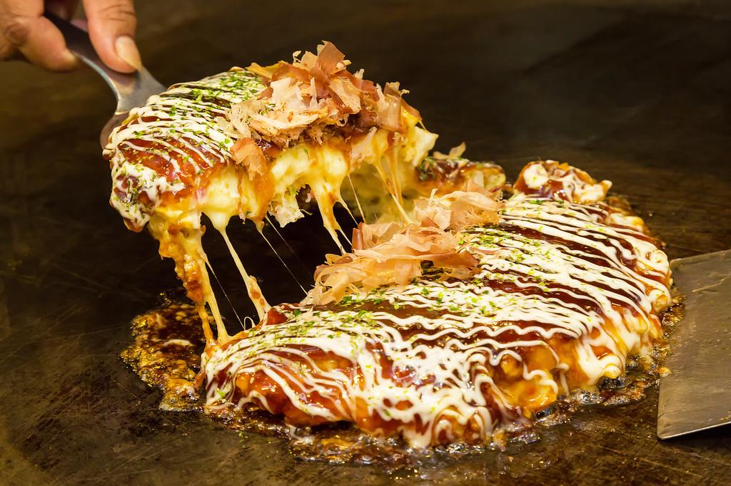 Okonomiyaki in Kyoto. Editorial credit: TheNUshutter / Shutterstock.com