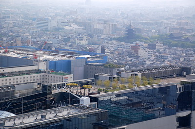 Kyoto Station viewed from Kyoto Tower