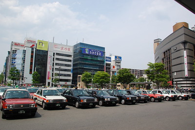 Taxis in front of Kyoto Station