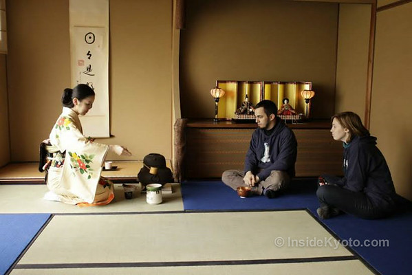 Tea ceremony at Camellia in Kyoto