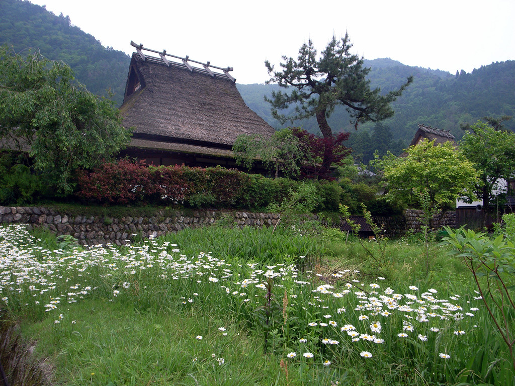 One of the thatched-roof houses in Kayabuki-no-Sato