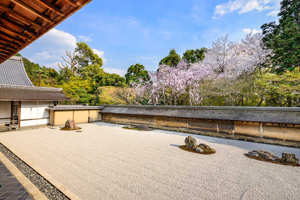 Garden at Ryoan-ji Temple. Editorial credit: Sean Pavone / Shutterstock.com